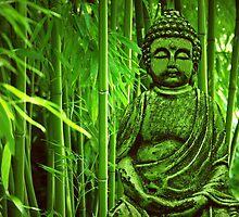 Bamboo with Buddha by Gabi Siebenhühner
