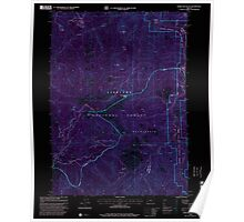 USGS Topo Map Oregon Horse Sign Butte 280249 1998 24000 Inverted Poster