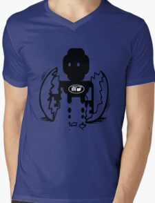 uk sci-fi robot birth by rogers bros Mens V-Neck T-Shirt