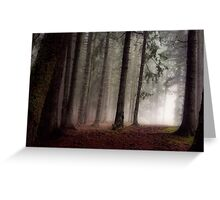 Eerie forest Greeting Card