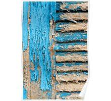 Old Blue Shutter I Poster