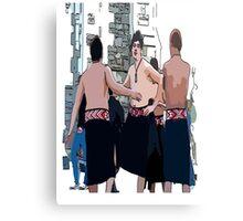 Maori Boys dancers Canvas Print