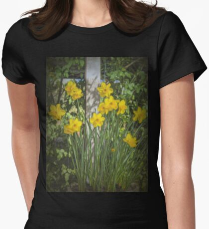 Daffodil Glow #2 Womens Fitted T-Shirt