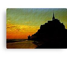 Mont Saint Michel, France (The Marvel) at Sunset Canvas Print