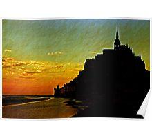 Mont Saint Michel, France (The Marvel) at Sunset Poster