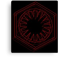 Star Wars First Order Red - 2 Canvas Print