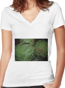 Artichokes Women's Fitted V-Neck T-Shirt