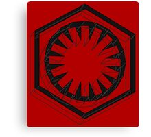 Star Wars First Order Black Canvas Print