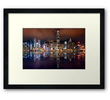 Skyline of Hong Kong 2015 Framed Print