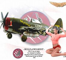 Belle of Belmont - P-47D Thunderbolt by A. Hermann