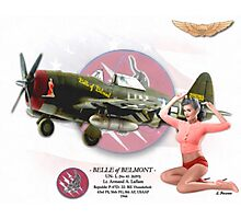 Belle of Belmont - P-47D Thunderbolt Photographic Print
