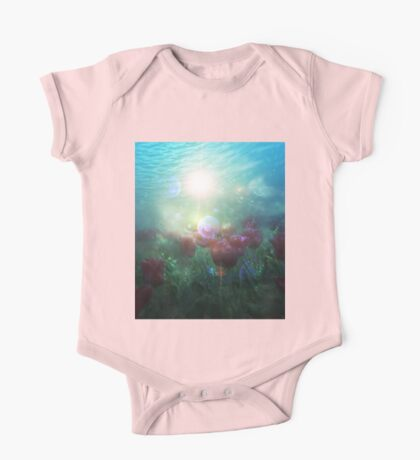 Underwater Tulips One Piece - Short Sleeve