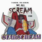 We All Scream for Starscream (light tee) by NDVs