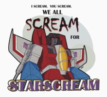 We All Scream for Starscream (light tee) One Piece - Long Sleeve