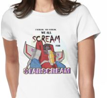 We All Scream for Starscream (light tee) Womens Fitted T-Shirt