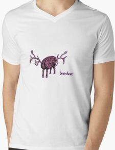 Braindeer Mens V-Neck T-Shirt