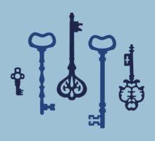 Victorian Indigo Keys One Piece - Short Sleeve