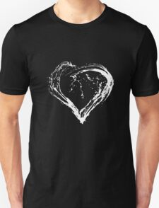 Abstract White Heart  T-Shirt