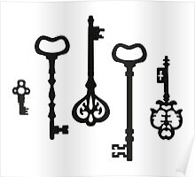 Victorian black & white Keys Poster