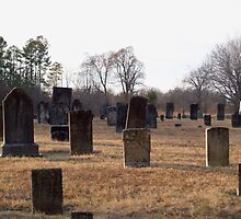 Old graves in Friedens Cemetery by BCallahan