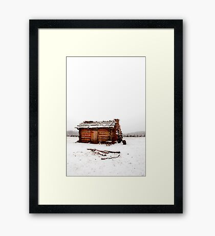 Fort Dobbs Cabin Framed Print