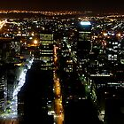 Johannesburg skyline at Night by JadePhoto
