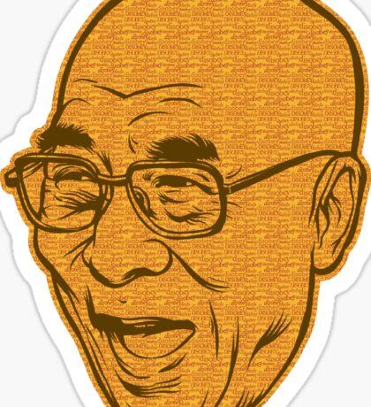 Dalai Lama Disobey Sticker