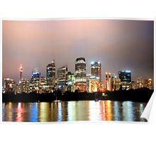 light up Sydney Poster