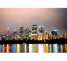 light up Sydney Photographic Print