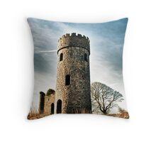 Irish Castle Ruins Throw Pillow
