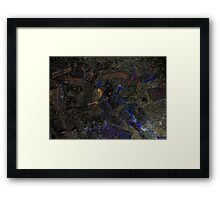 What Lies Behind The Woodshed. Framed Print