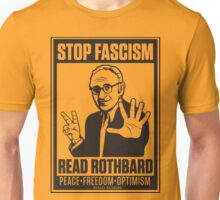 Stop Fascism: Read Rothbard Unisex T-Shirt