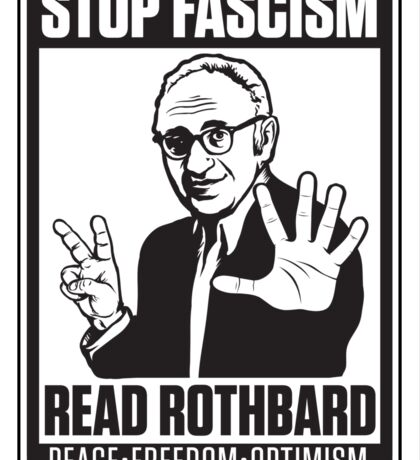 Stop Fascism: Read Rothbard Sticker