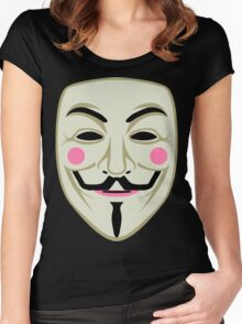 Guy Fawkes Mask Women's Fitted Scoop T-Shirt
