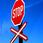 a stop sign  by JadePhoto