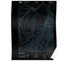 USGS Topo Map Oregon Marley Creek 20110822 TM Inverted Poster