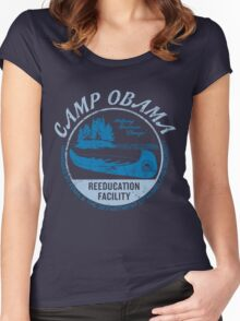Camp Obama Women's Fitted Scoop T-Shirt