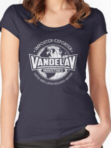 Vandelay Industries (white) Women's Fitted Scoop T-Shirt