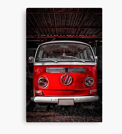 Volkswagen combi Red Canvas Print