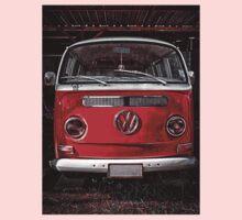 Volkswagen combi Red Kids Tee