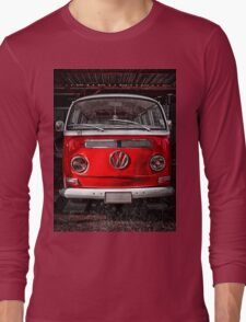 Volkswagen combi Red Long Sleeve T-Shirt