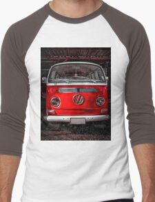 Volkswagen combi Red Men's Baseball ¾ T-Shirt