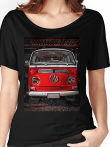 Volkswagen combi Red Women's Relaxed Fit T-Shirt