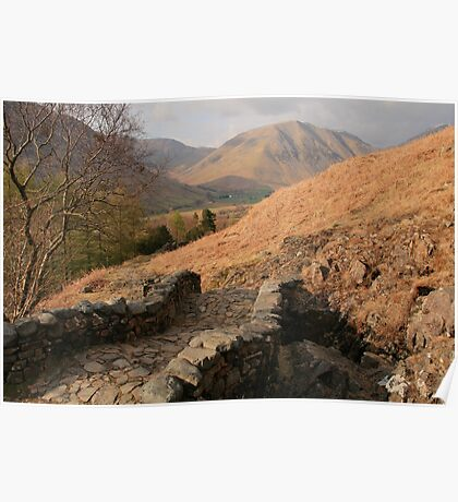 Eskdale Track From Wastwater Poster