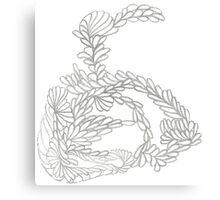 Pencilled Loopies Canvas Print