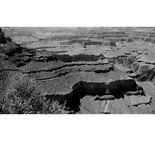 South Rim Black and White Photographic Print