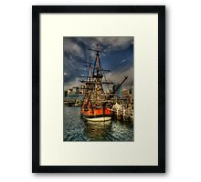 Endeavour - Darling Harbour, Sydney - The HDR Experience Framed Print