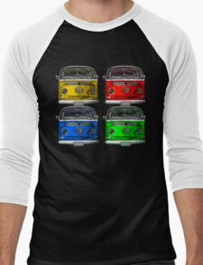 Multi colors Volkswagen kombi Men's Baseball ¾ T-Shirt