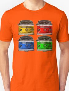 Multi colors Volkswagen kombi Unisex T-Shirt