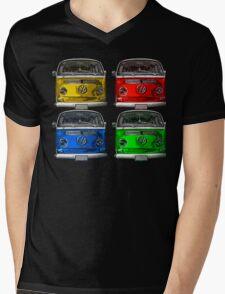 Multi colors Volkswagen kombi Mens V-Neck T-Shirt